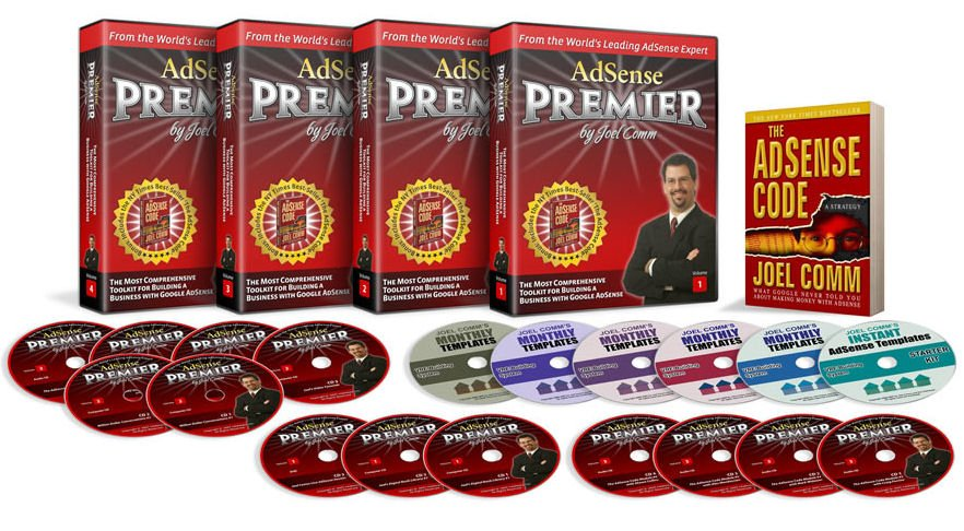 AdSense Premier - vol 1-4 -  cds - adsense code